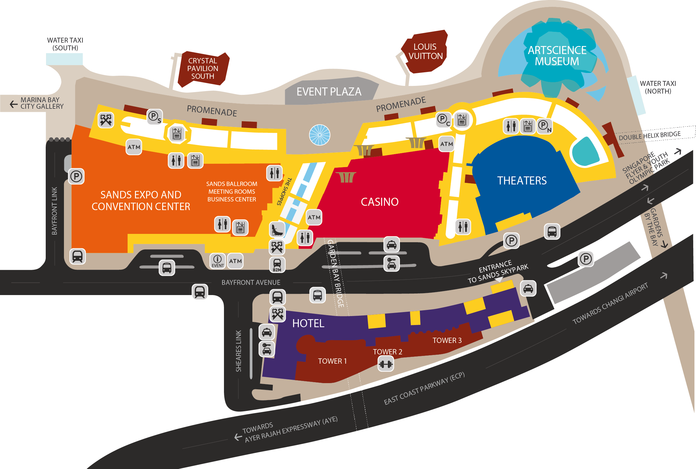 Marina Bay Sands Location Map